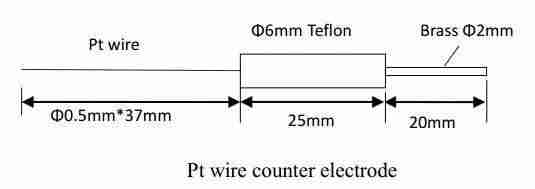 CS912 Pt Wire Electrode