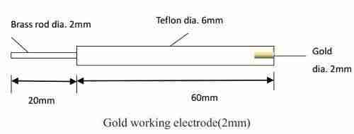 Gold electrode, 2mm diameter