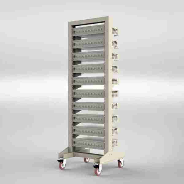 Moveable rack for battery tester1