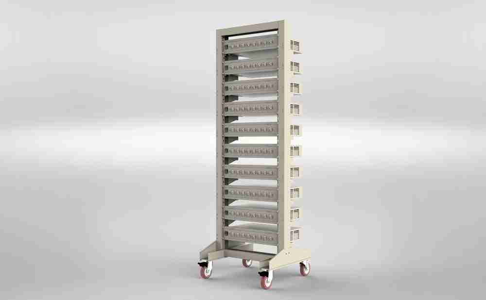 Rack for Battery Testing Systems